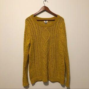 { old navy } • mustard sweater